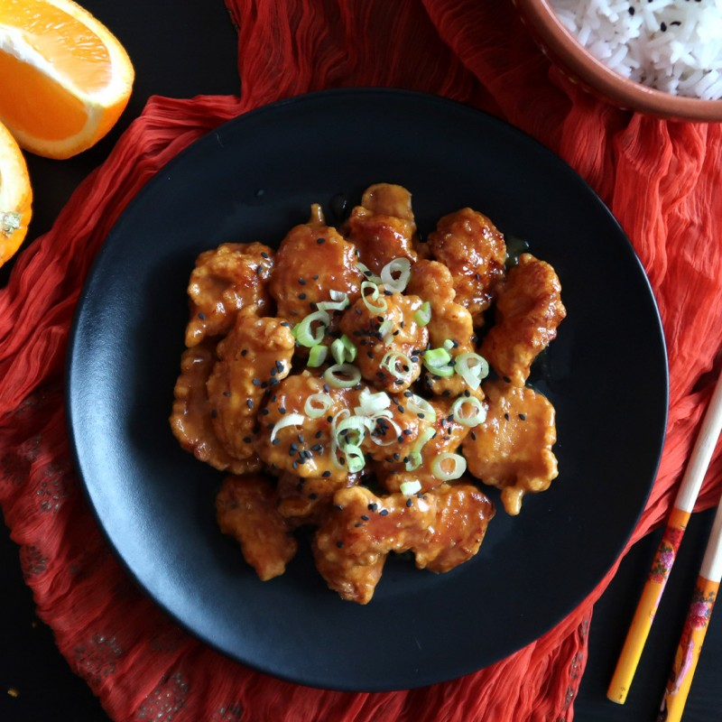 Čínské smažené kuře s pomerančovou omáčkou
